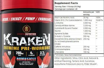 Sparta Nutrition Kraken Bombsicle - supplement