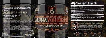 T6 Team Six Alpha Yohimbine - supplement