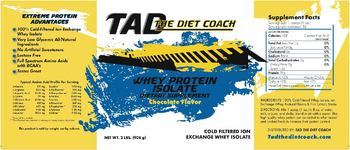 Tad The Diet Coach Whey Protein Isolate Chocolate Flavor - supplement