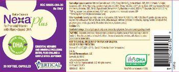 Vertical Pharmaceuticals, LLC. Nexa Plus -
