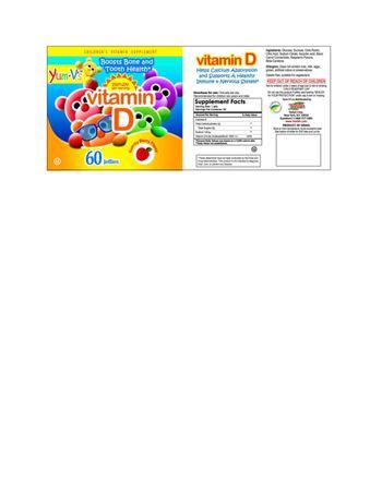 Yum-V's Vitamin D Yummy Berry Flavor - childrens vitamin supplement